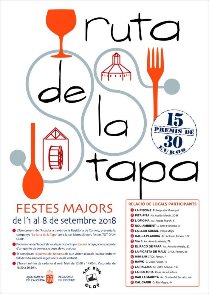 Ruta de la Tapa en les Festes Majors de l'Alcúdia 2018