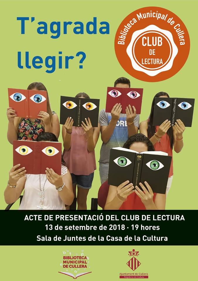 La Biblioteca de Cullera presenta el seu club de lectura