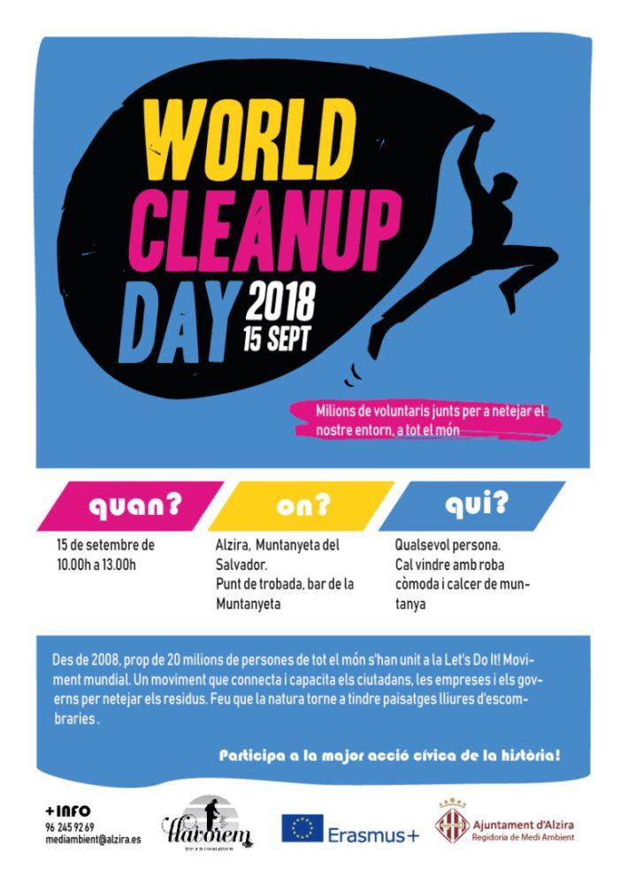 Dissabte Alzira celebra una jornada de neteja a la muntanyeta del Salvador
