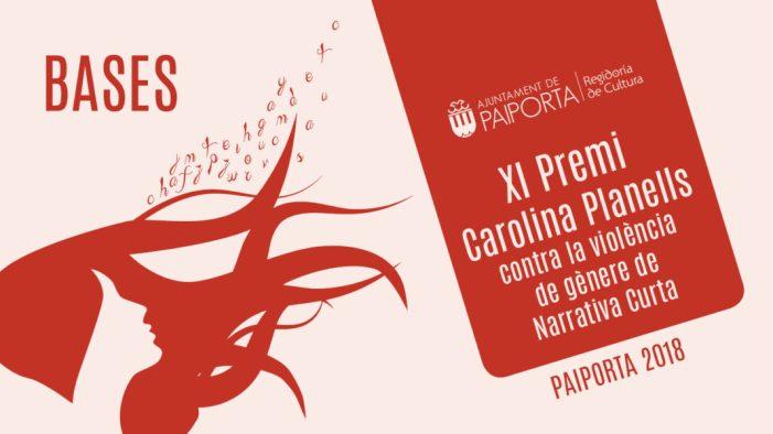 Últimes setmanes per a presentar obres al Premi Carolina Planells contra la violència de gènere de narrativa curta a Paiporta