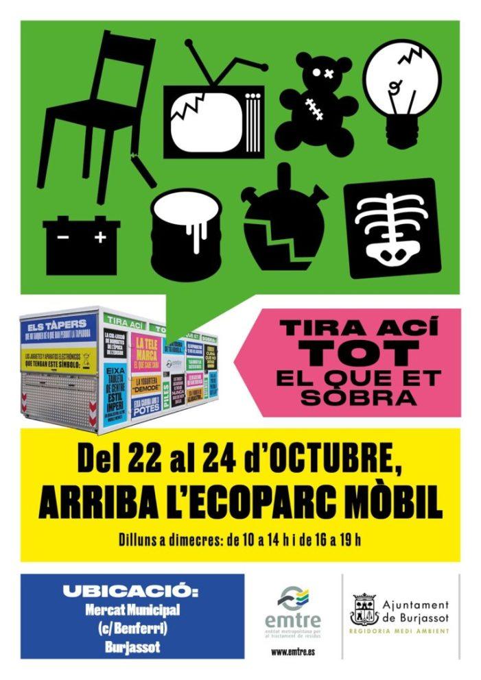L'Ecoparc mòbil de l'Emtre fa novament parada a Burjassot del 22 al 24 d'octubre