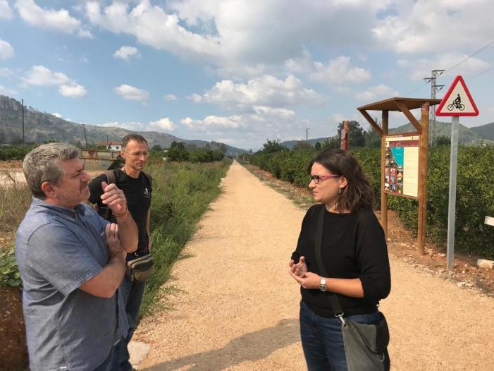 La Barraca d'Aigües Vives habilita un nou tram de la via verda Carcaixent-Dènia amb l'ajuda de la Diputació