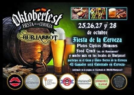 Burjassot: L'associació hostelera ARA Burjassot celebra la Oktoberfest 2018 25,26, 27 i 28 d'octubre
