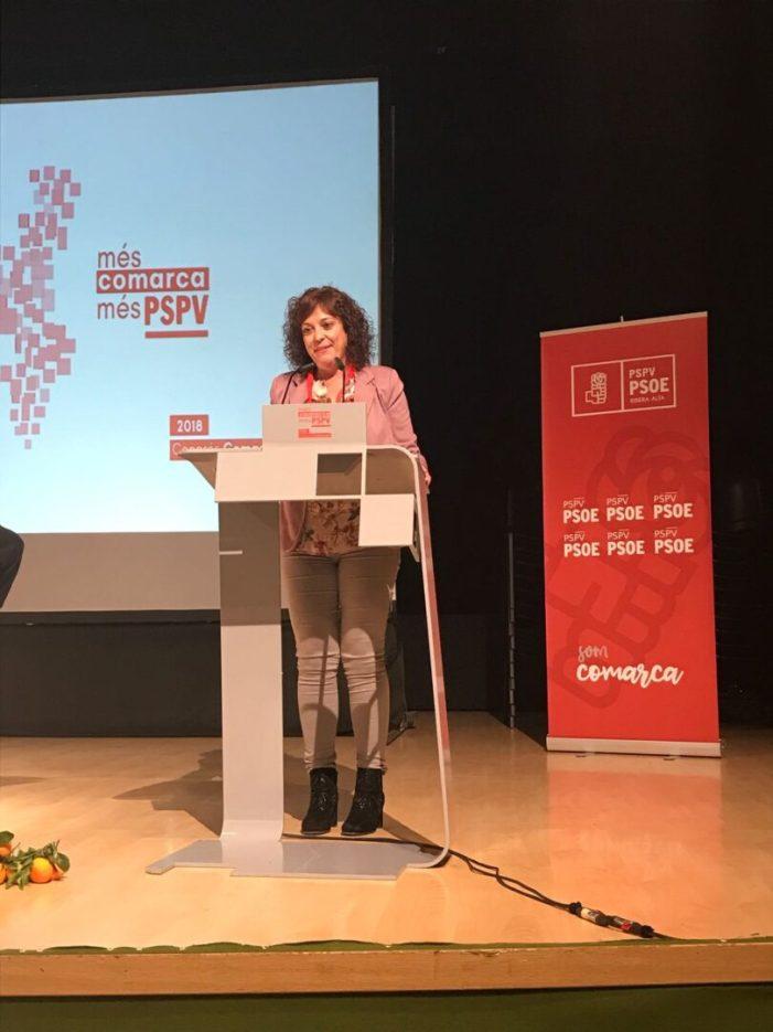 Neus Garrigues , Secretaria General PSPV-PSOE i alcaldessa de la Pobla Llarga .