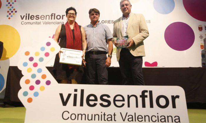 Almussafes obté una 'Flor d'Honor' en els Premis 'Viles en Flor 2018' per la seua labor en la millora de l'espai urbà