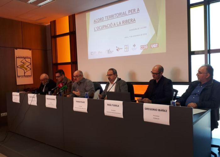 Signatura de l'Acord Territorial per a l'Ocupació a la Ribera