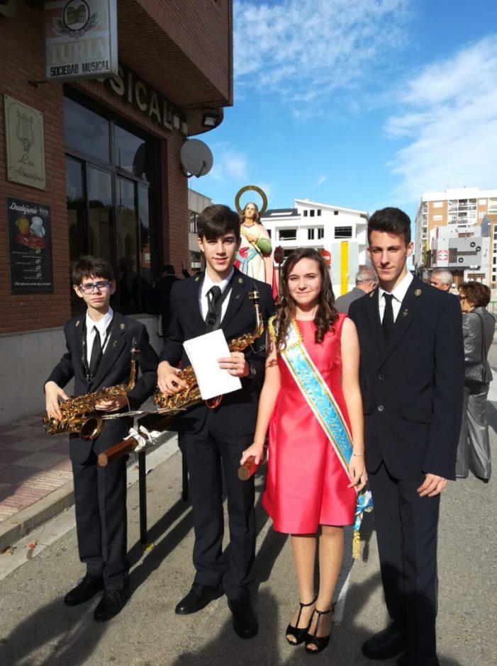 Ple absolut en el concert de Santa Cecília de la banda Lira Almussafense