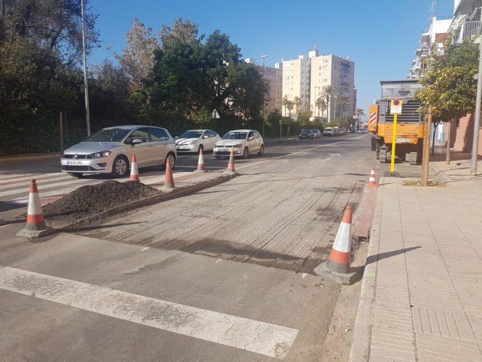 L'Ajuntament d'Alzira adequa els passos elevats reductors de velocitat al nucli urbà