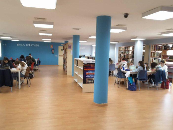 La Biblioteca d'Almussafes amplia l'horari d'estudi fins a les 2 de la matinada
