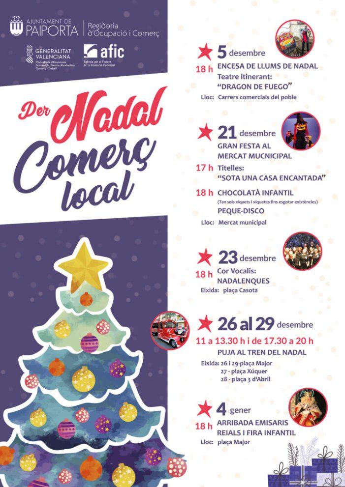 Paiporta es prepara per a les activitats nadalenques organitzades per la Regidoria de Comerç