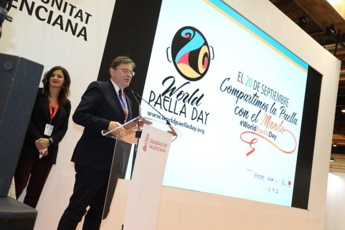 Puig participa en l'acte promocional del Dia Mundial de la Paella en Fitur