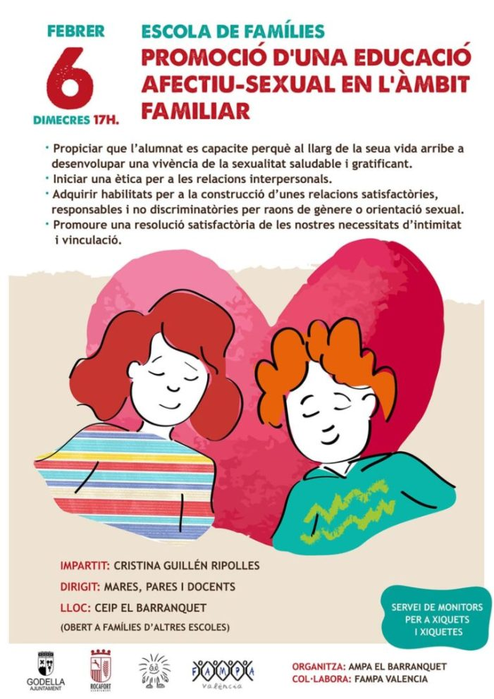 El 6 de febrer, jornada de promoció d'una educació afectiu-sexual en l'àmbit familiar