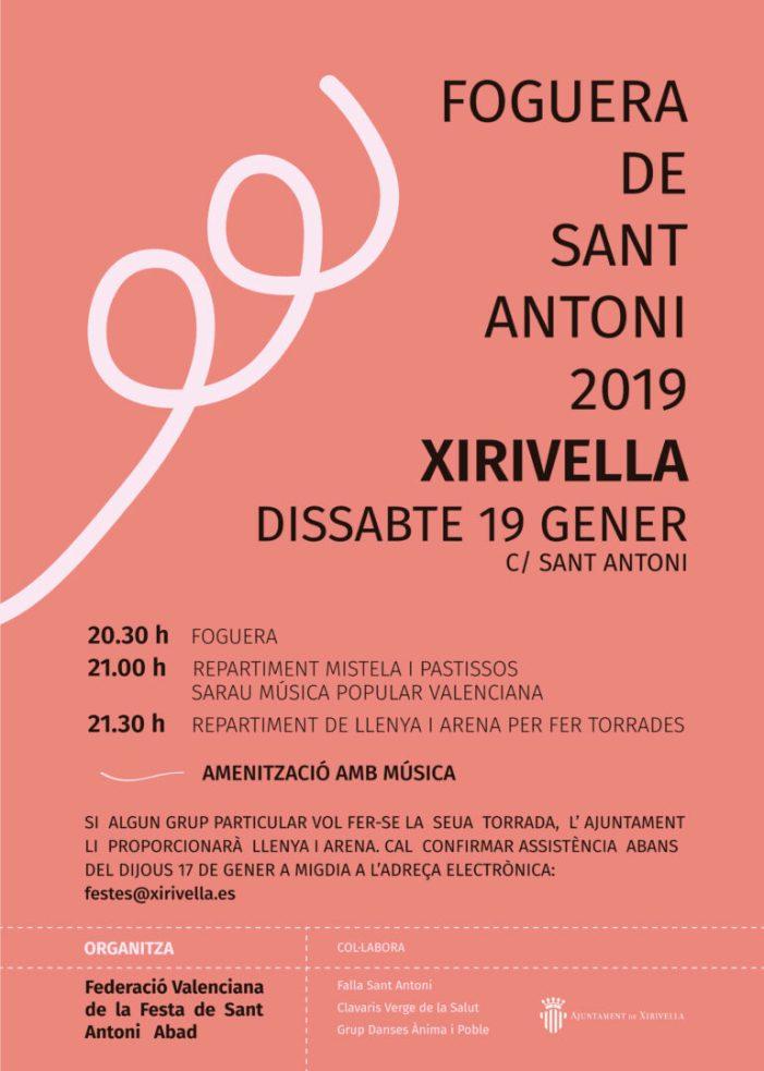 Xirivella inclou el sarau de música popular valenciana a la festa de Sant Antoni