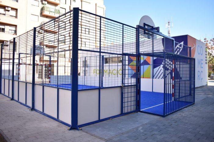 Oberta la pista multideportiva de la Pl. Corts Valencianes d'Alfafar