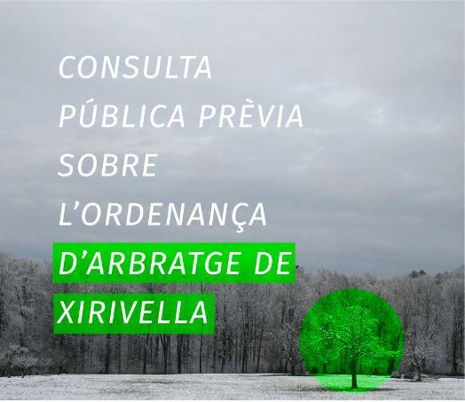 Iniciat el procés de participació ciutadana sobre l'ordenança reguladora de l'arbratge de Xirivella