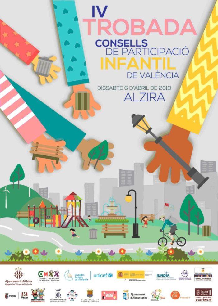 Alzira celebra, el 6 d'abril, la IV Trobada de Consells de Participació Infantil de Municipis Valencians que són Amics de la Infància