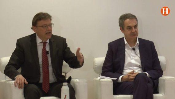 Puig i Zapatero acudeixen a l'acte 'Sumem per la Igualtat'.