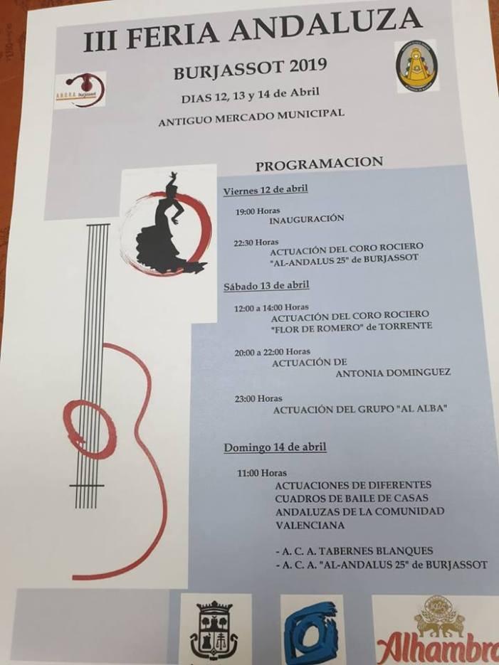 Abril entra a Burjassot celebrant la III Fira Andalusa del municipi