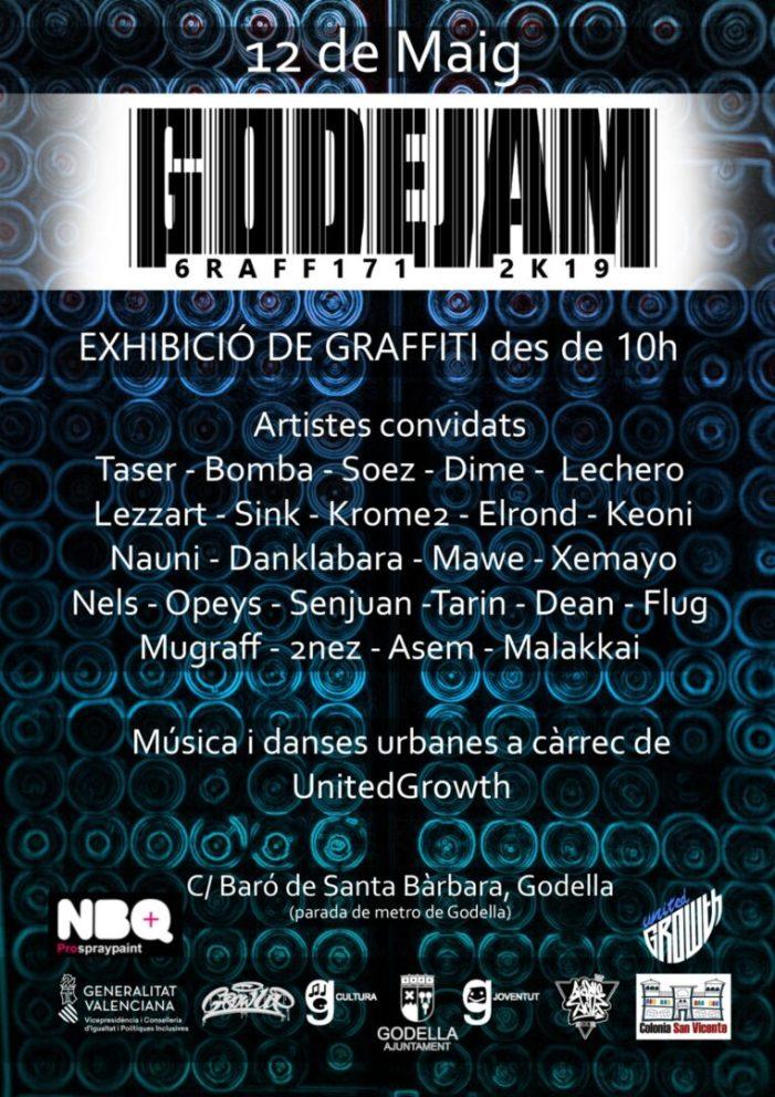 El 12 de maig arriba una nova edició del Godejam Graffiti, el festival d'art urbà de Godella