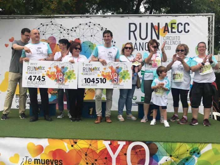 Burjassot suma 4.745 euros i molts quilòmetres a la lluita contra el càncer