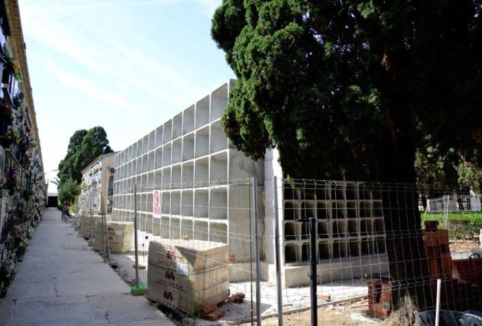 Paiporta inverteix 90.000 euros en l'ampliació de 258 nínxols al Cementeri Nou