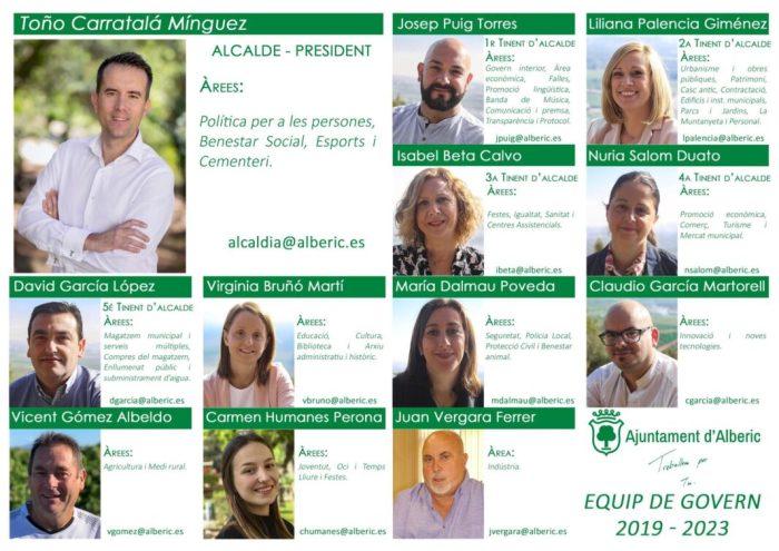 Toño Carratalá reparteix a Alberic les àrees de govern entre dotze regidors