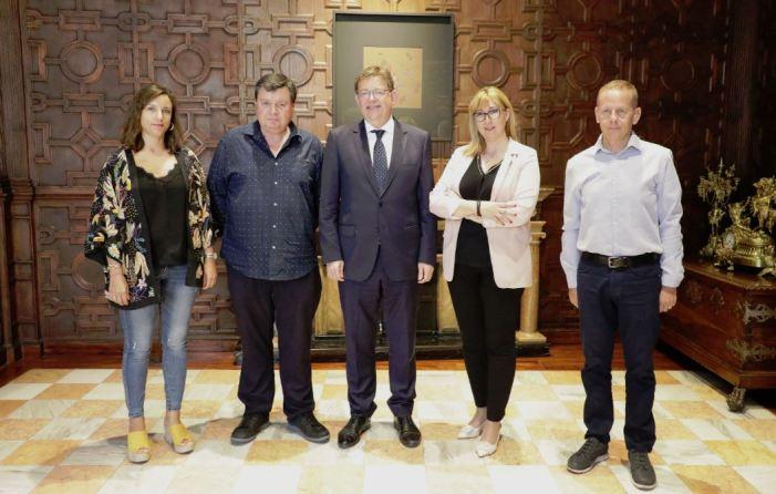 Ximo Puig rep la Federació de Societats Musicals de la Comunitat Valenciana