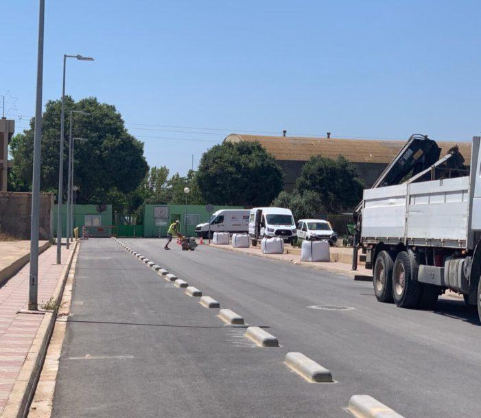 Benifaió millora l'accés al CEIP Trullás amb enjardinament d'espais i carril bici