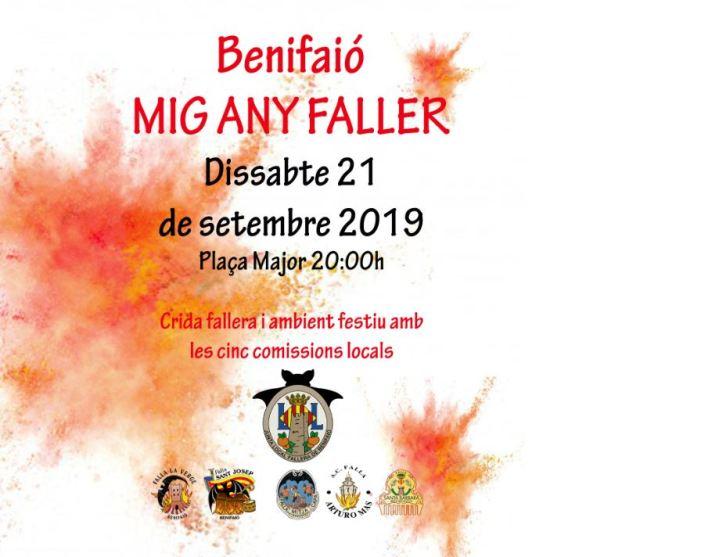 """El món faller de Benifaió celebrarà el dissabte 21 de setembre el """"Mig Any Faller"""""""