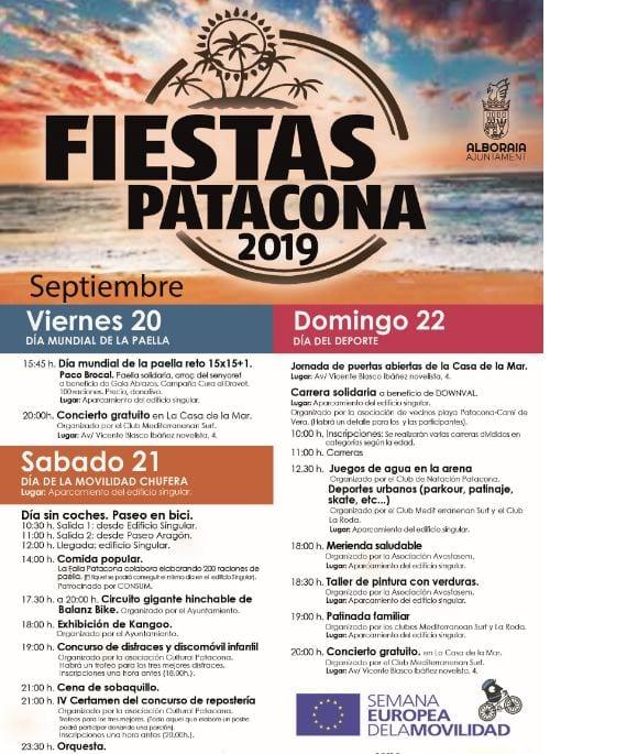 Les festes de la Patacona comencen el divendres 20 de setembre