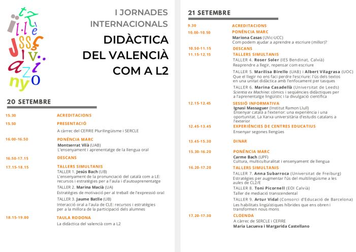 Escola Valenciana participa en les I Jornades Internacionals Didàctica del valencià com a segona llengua