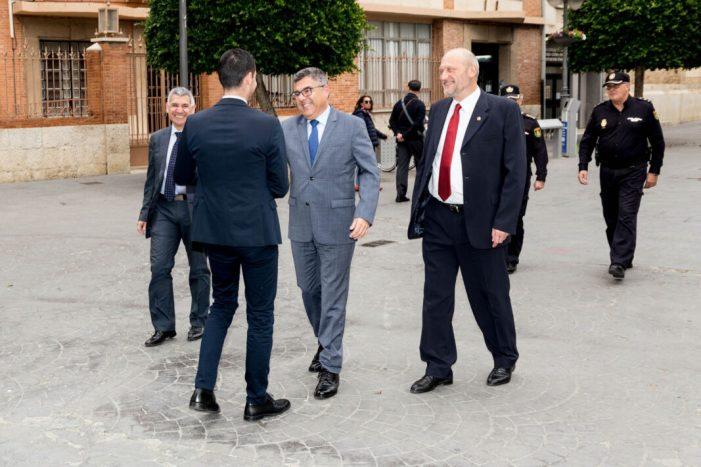 El Delegat del Govern i el nou cap superior de la Policia en la Comunitat Valenciana visiten l'Ajuntament de Mislata