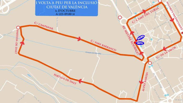 La ciutat de València acull diumenge que ve la I Carrera per la Inclusió
