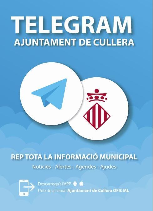 Cullera obri un canal de Telegram per oferir informació municipal a la ciutadania