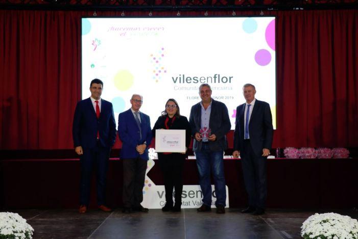Almussafes rep tres Flors d'Honor en la Gala Viles en Flor de la Comunitat Valenciana