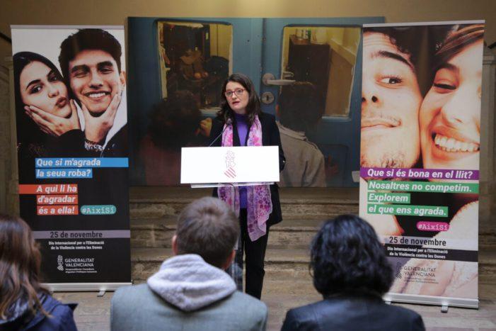 Oltra: 'Aquesta campanya busca donar suport a aquells homes que busquen la igualtat i treballen per la fi de la violència masclista'