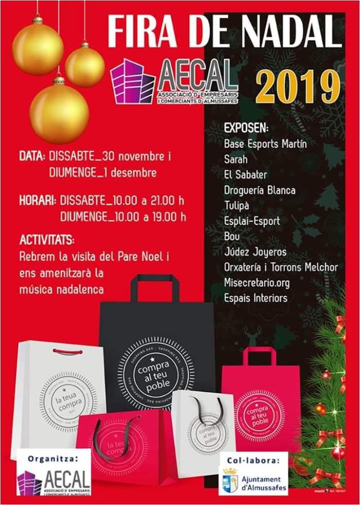 El Nadal arriba a Almussafes de la mà d'una nova fira del comerç d'AECAL