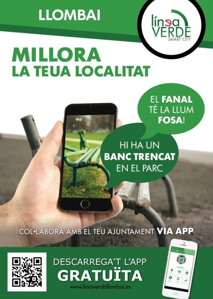 """Llombai promociona una APP telefònica per a convertir-se en una """"localitat intel·ligent"""""""