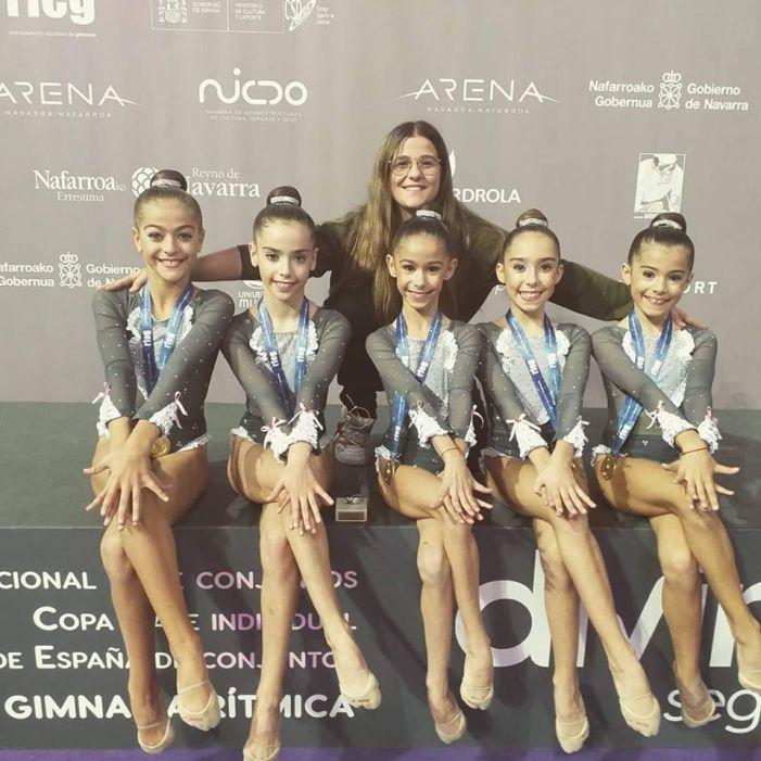 El Club Gimnàstica Almussafes aconsegueix dos ors en el Campionat d'Espanya de Conjunts Base de Pamplona