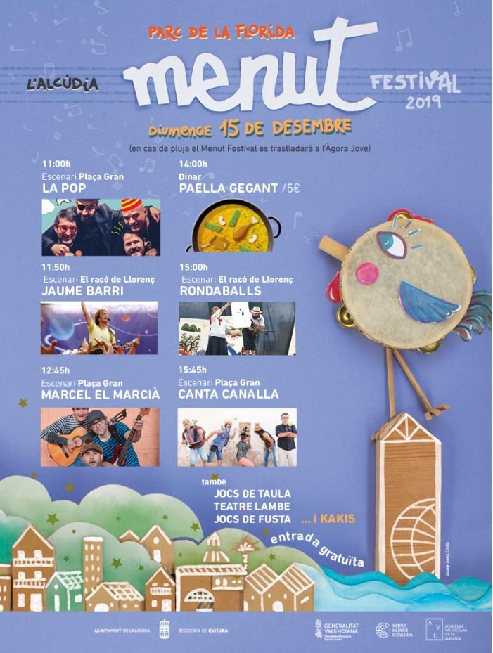 El Menut Festival anuncia el Nadal a l'Alcúdia