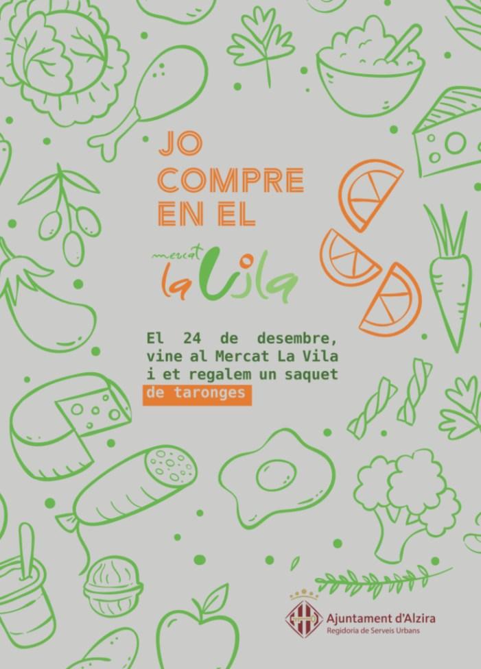 El Mercat La Vila repartirà saquets de taronges la vespra de Nadal