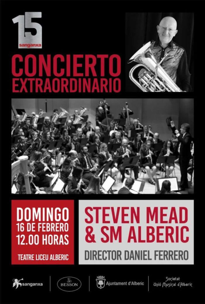 El prestigiós solista internacional Steve Mead i la Societat Unió Musical d'Alberic protagonitzen un especial concert
