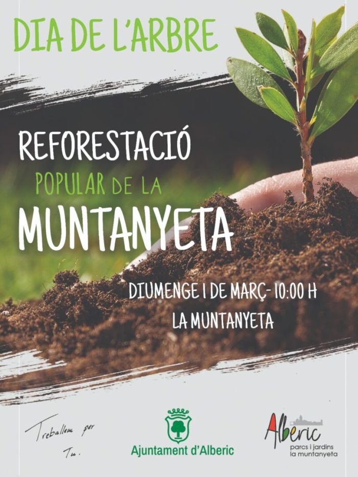 Els xiquets d'Alberic apadrinaran els arbres en la reforestació de la Muntanyeta de l'1 de març