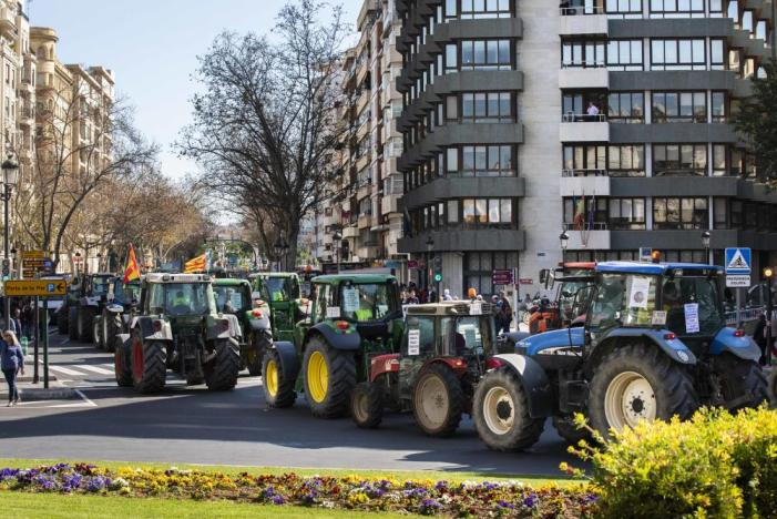 L'Ajuntament de Riola dóna suport a la manifestació d'agricultors celebrada a València