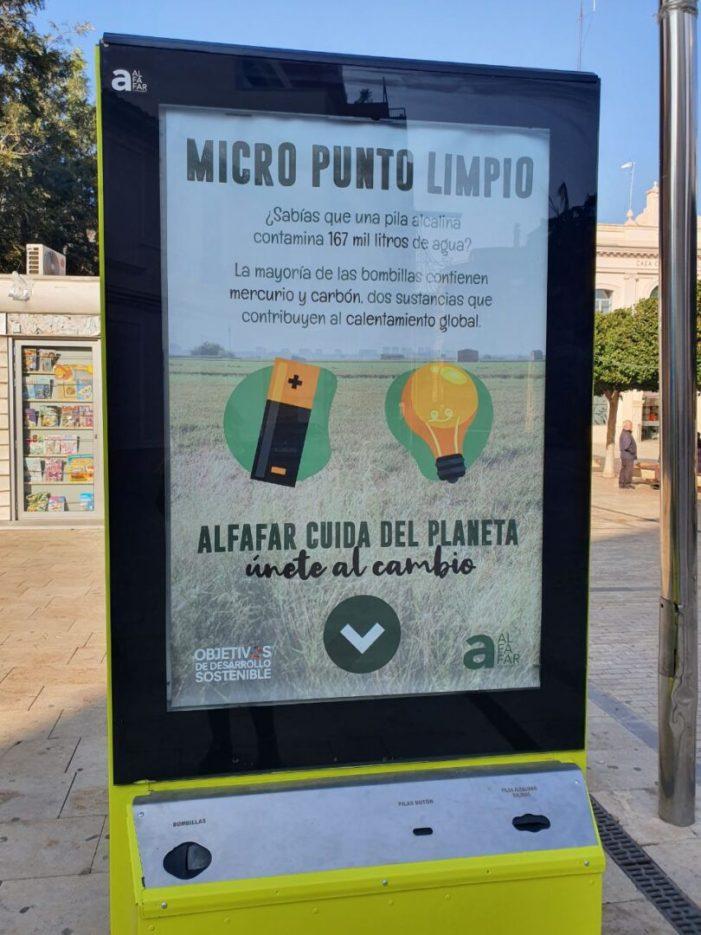 Alfafar recoge más de 80 kilos de pilas y bombillas