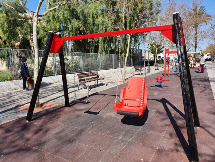 Aldaia ha finalitzat amb èxit la segona fase dels treballs de millora i manteniment dels parcs infantils
