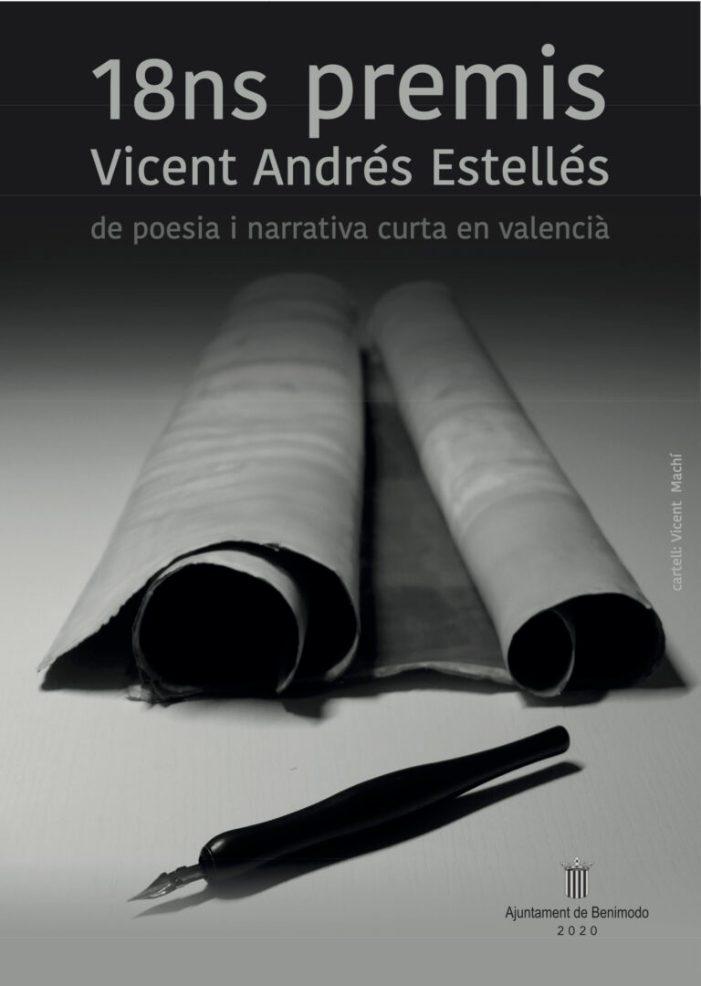 Benimodo convoca la 18ena edició dels Premis de Poesia i Narrativa Vicente Andrés Estellés