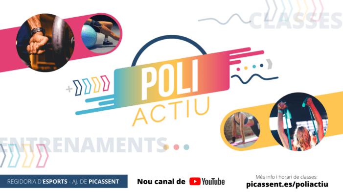 El Poliesportiu municipal de Picassent reprén la seua activitat de manera online