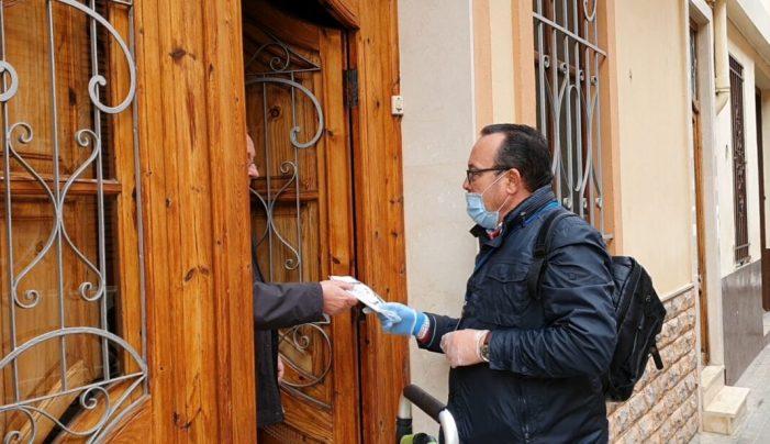 L'Ajuntament de Torrent comença el repartiment de les mascaretes higièniques als domicilis