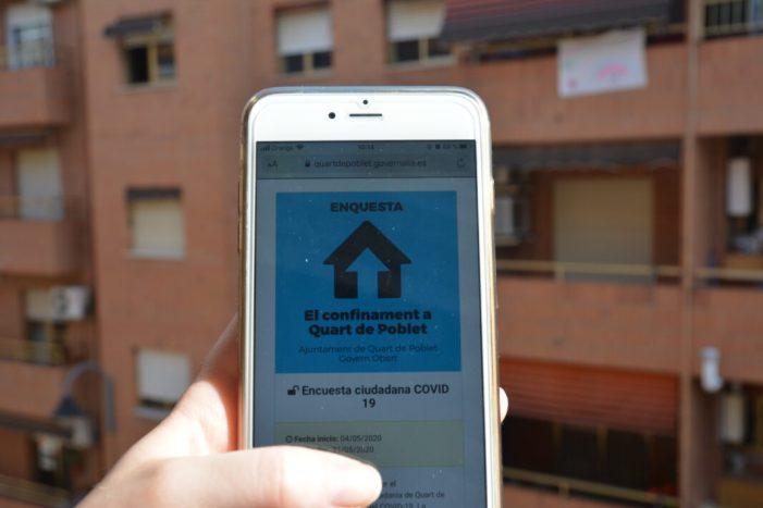 Més de 300 veïns i veïnes de Quart de Poblet ja han participat en l'enquesta ciutadana sobre el confinament